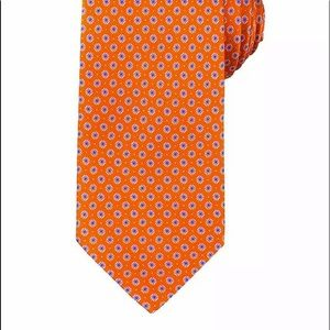 Brioni men's silk neck tie orange made in Italy